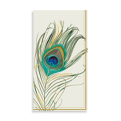 Peacock Feather Paper Guest Towels (Set of 16) - Bed Bath ...