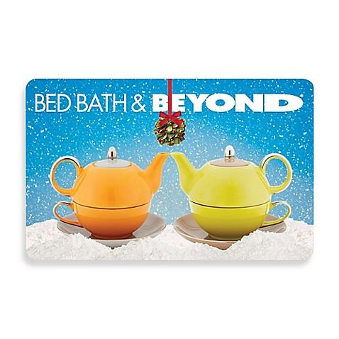 Mistletoe Teapots Gift Card Bed Bath Beyond