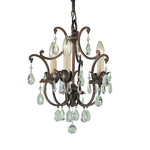 Feiss Maison De Ville Three Light Mini Duomount Chandelier