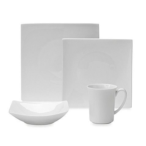 Nevaeh White® by Fitz and Floyd® Hard Square Dinnerware Collection at Bed Bath & Beyond in Cypress, TX | Tuggl