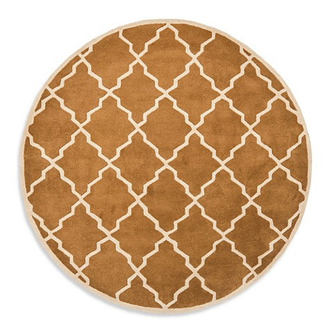 Buy safavieh chatham 7 foot round rug in brown from bed for Where to buy round rugs