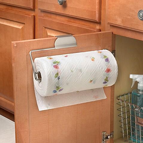 Buy Spectrum Over The Cabinet Door Paper Towel Holder In Brushed Nickel From