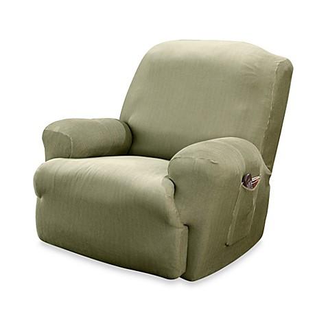 sure fit stretch stripe recliner slipcover bed bath beyond. Black Bedroom Furniture Sets. Home Design Ideas