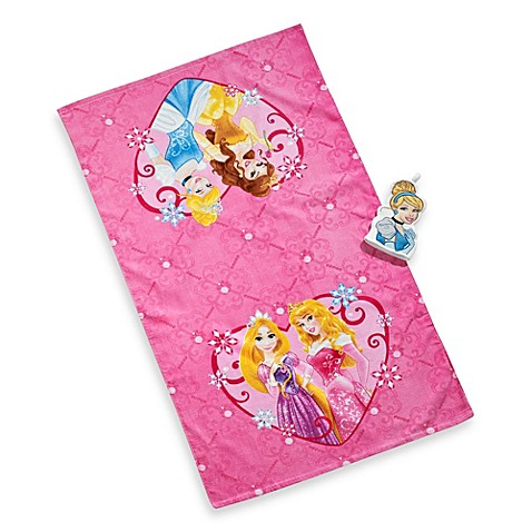 Disneyr princess tiara bath towel and wash mitt set for Disney princess bathroom set