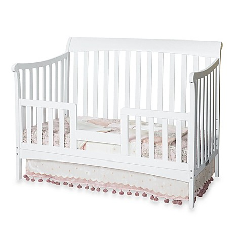 child craft toddler guard rail for convertible cribs in white. Black Bedroom Furniture Sets. Home Design Ideas