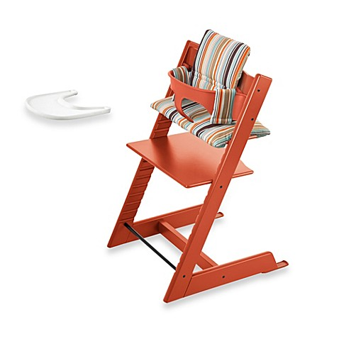 Tripp trapp chair with tray - Stokke 174 Tripp Trapp 174 High Chair Complete Bundle In Orange