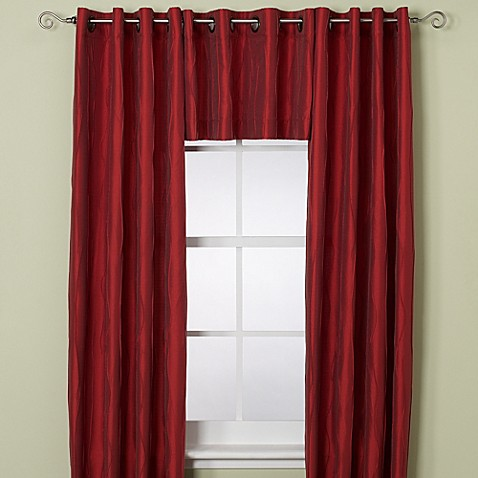 Buy Venice Window Curtain Valance In Red From Bed Bath