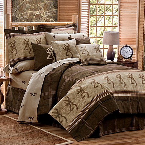 Buy Browning Buckmark Twin Comforter Set In Brown From Bed Bath Amp Beyond
