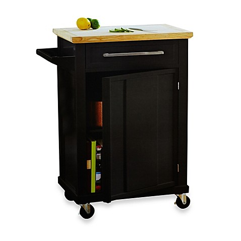 buy real simple 174 rolling kitchen cart in black from bed kitchen islands on wheels best home u kitchen design with