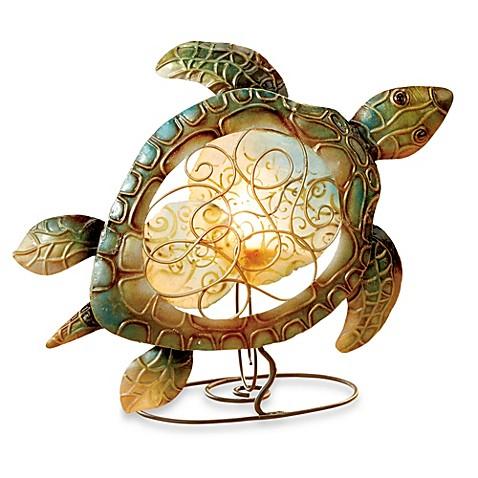 Sea turtle capiz shell tealight holder bed bath beyond - Capiz shell tealight holder ...
