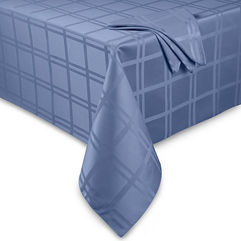 Buy Origins Microfiber 60 Inch Round Tablecloth In Denim