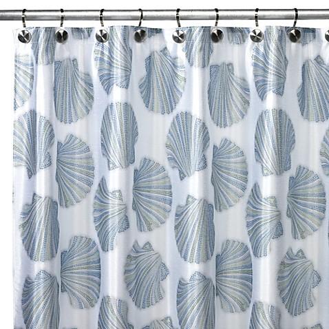 Croscill 174 Mosaic Shells Shower Curtain Bed Bath Amp Beyond