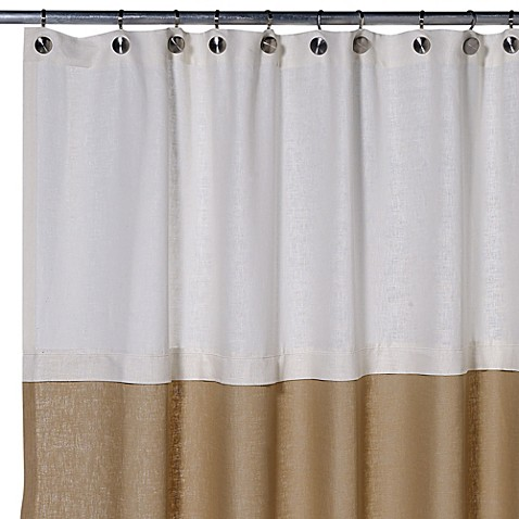 buy soho 72 inch x 75 inch linen shower curtain in khaki