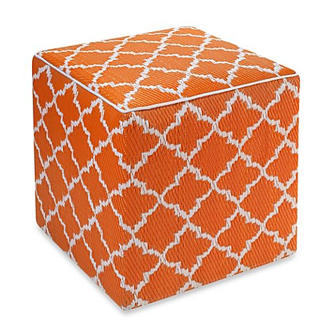Fab habitat tangier cube pouf bed bath beyond for Cube miroir habitat