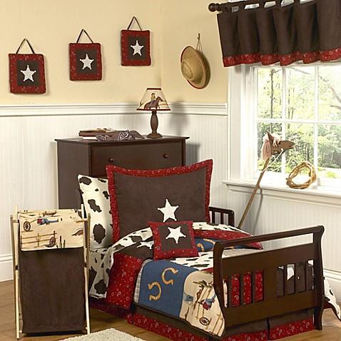 Sweet jojo designs wild west toddler bedding collection for Sweet jojo designs bathroom