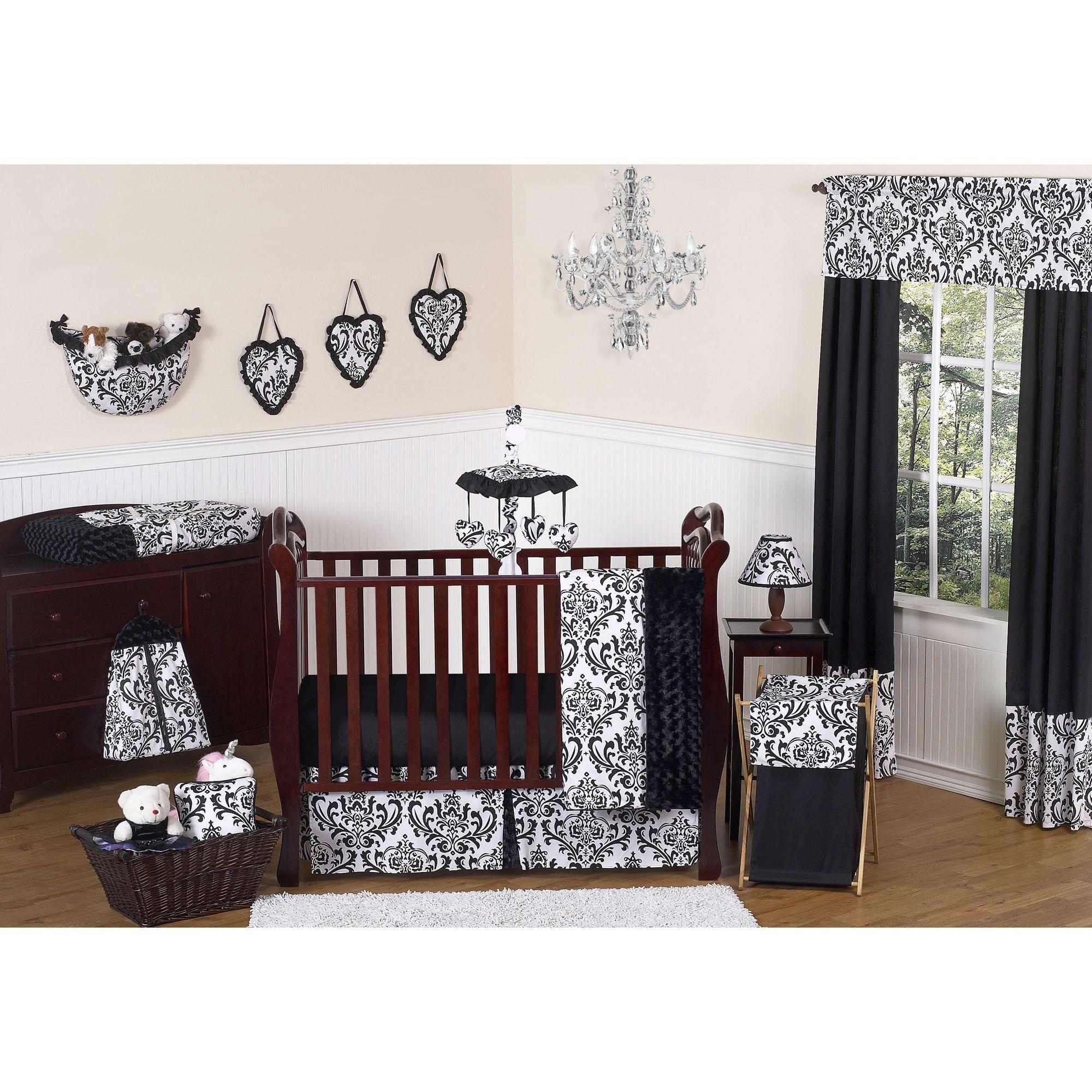 Sweet Jojo Designs Isabella Crib Bedding Collection in Black/White