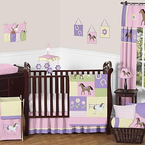 Sweet jojo designs pretty pony crib bedding collection - Decoradora de interiores ...