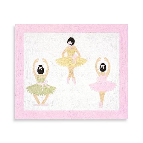 Sweet jojo designs ballerina 36 inch x 30 inch accent rug for Sweet jojo designs bathroom