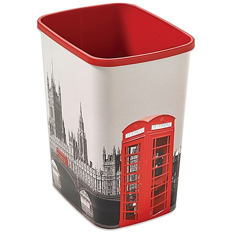 Buy Decorative London Trash Can From Bed Bath Beyond