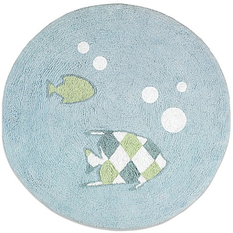Buy sweet jojo designs go fish 30 inch round accent rug for Fish bath rug