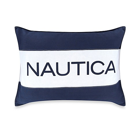 Nautica Mainsail Breakfast Throw Pillow in Navy - Bed Bath & Beyond