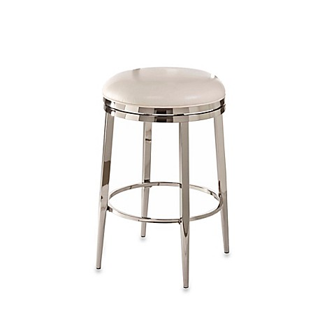 Buy Ampersand Halton Swivel 26 Inch Backless Counter Stool In Ivory From Bed Bath Beyond