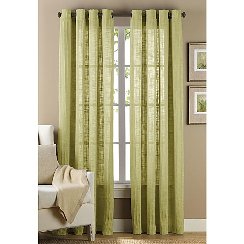 Buy B Smith Origami Grommet 108 Inch Window Curtain Panel In Green From Bed Bath Beyond