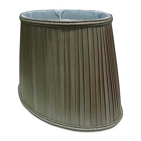 buy mix match small 12 inch knife pleated oval lamp shade in olive. Black Bedroom Furniture Sets. Home Design Ideas