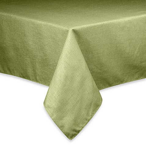 Buy Basketweave Tablecloth 90 Inch Square Sage From