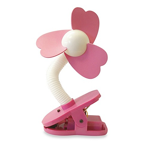 buy dreambaby clip on stroller fan in white pink from bed bath beyond. Black Bedroom Furniture Sets. Home Design Ideas