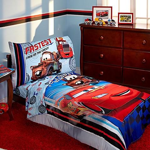 Disney® Cars Fastest Team 4-Piece Toddler Bedding Set ...