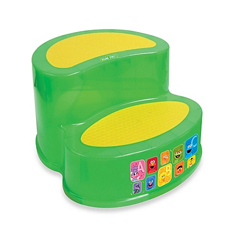 step stools ginsey sesame street 2 tier step stool from buy buy baby. Black Bedroom Furniture Sets. Home Design Ideas