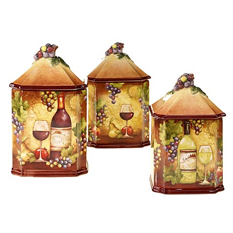 certified international wine map 3 piece canister set oak barrel canister set red head oak barrels aging rum