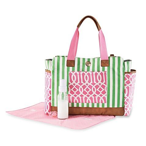 mud pie bigger bundle diaper bag in pink. Black Bedroom Furniture Sets. Home Design Ideas