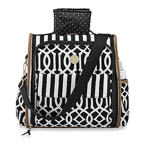 mud pie bundle of joy diaper bag in black. Black Bedroom Furniture Sets. Home Design Ideas