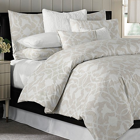 Barbara Barry 174 Poetical Duvet Cover In Natural