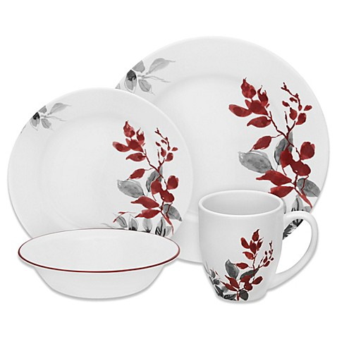 Corelle® Boutique Kyoto Leaves 16-Piece Dinnerware Set at Bed Bath & Beyond in Cypress, TX | Tuggl
