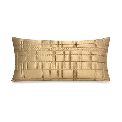 DKNY City Line Oblong Throw Pillow in Gold - BedBathandBeyond.com