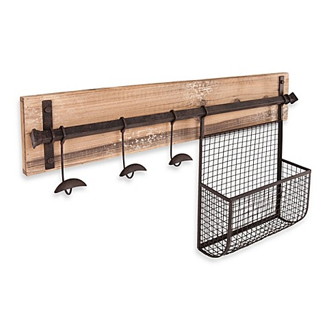 Southern Enterprises Entryway Wall Mount Storage at Bed Bath & Beyond in Cypress, TX | Tuggl