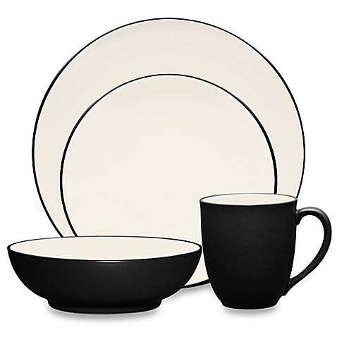 Noritake® Colorwave Coupe Dinnerware Collection in Graphite at Bed Bath & Beyond in Cypress, TX   Tuggl