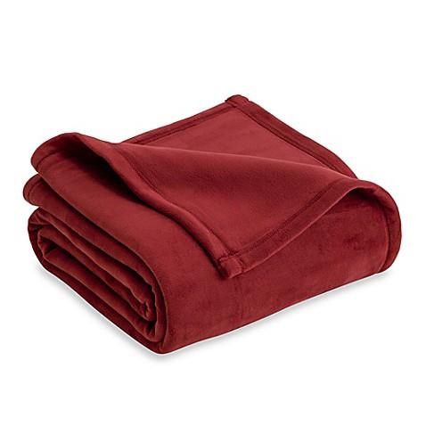 Buy Vellux Plush King Blanket In Burgundy From Bed Bath