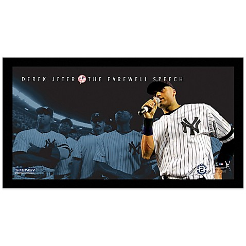 steiner derek jeter moments farewell speech frame bed