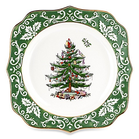 Spode Christmas Tree Embossed 10 Inch Scalloped Plate Bed Bath Beyond