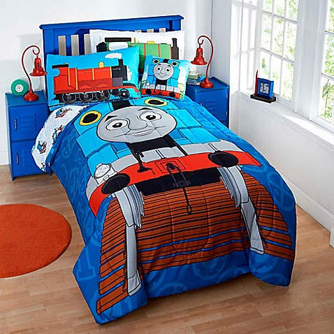 Thomas the tank engine reversible comforter set for Thomas the train bathroom set