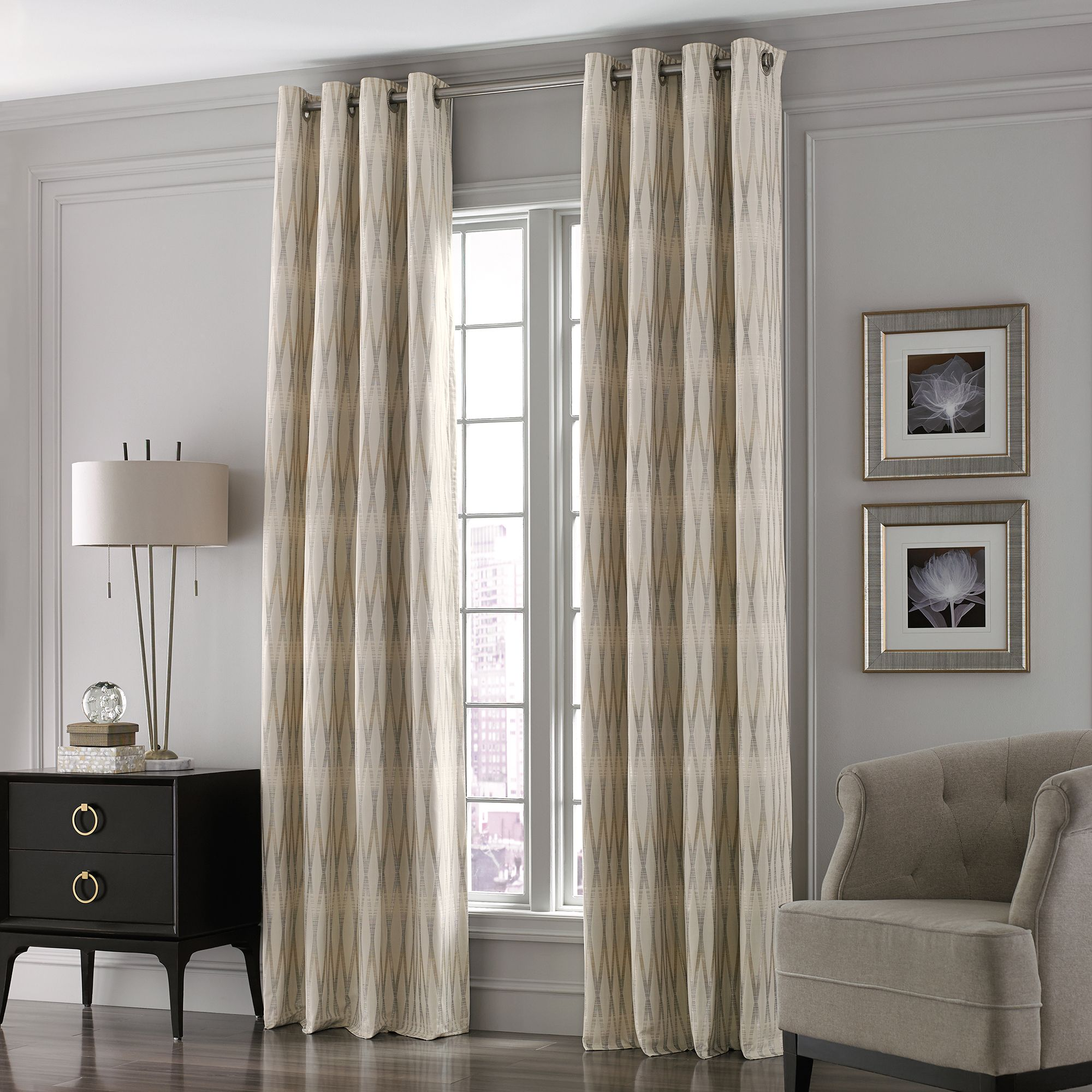 modern craftsman dining room Curtain Panel