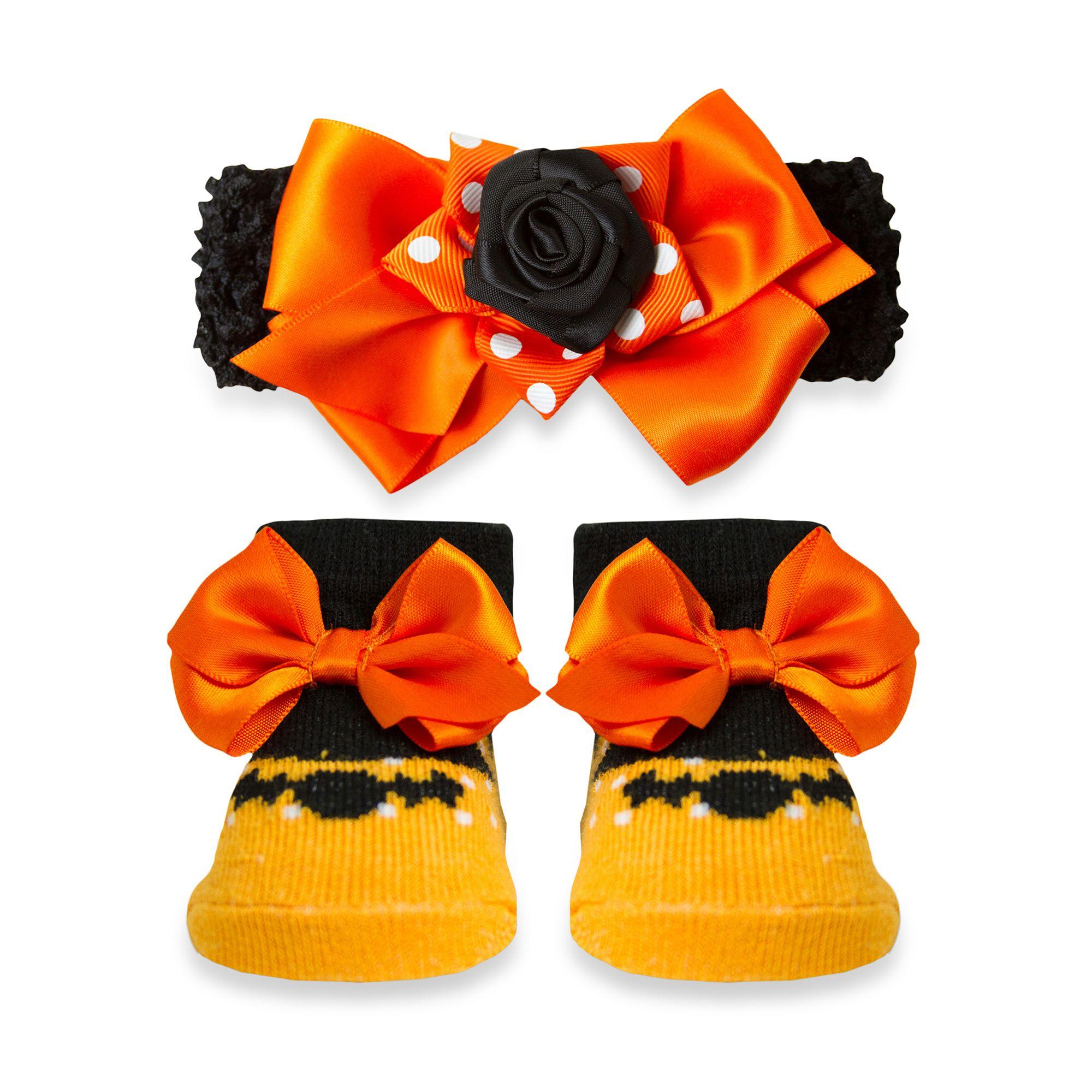 AD Sutton Halloween Novelty Bat Sock and Headband Set