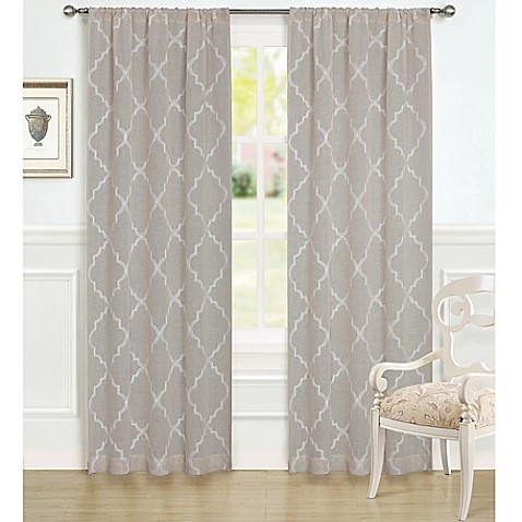 buy laura ashley 84 inch windsor window curtain panel. Black Bedroom Furniture Sets. Home Design Ideas