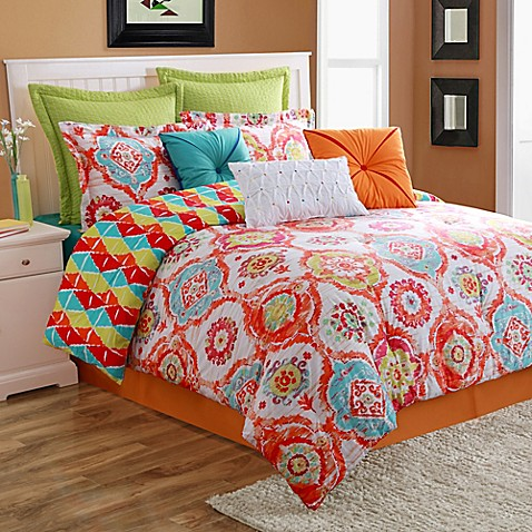 Fiesta ava reversible comforter set bed bath beyond - Bed bath and beyond bedroom furniture ...