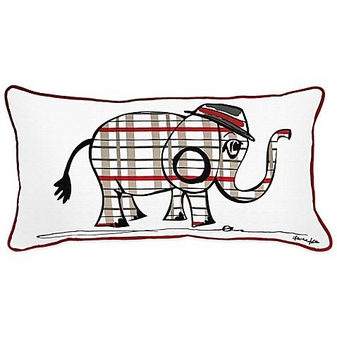 Elephant Throw Pillow Bed Bath And Beyond : Rachel Kate Punk Rock Animal Boys Elephant Oblong Throw Pillow - Bed Bath & Beyond