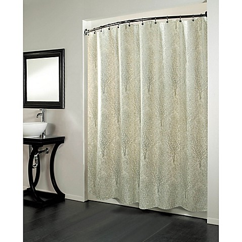 Buy Forest 70 Inch X 84 Inch Fabric Metallic Print Shower Curtain From Bed Bath Beyond